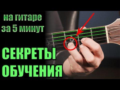 Как научиться играть на гитаре ЗА 5 МИНУТ с нуля
